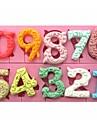 Large Size 0-9 Numbers Shaped Fondant Cake Chocolate Silicone Mold SM-318