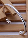 Жен. Стерлинговое серебро Браслет цельное кольцо - Серебряный Браслеты Назначение Свадьба Для вечеринок Повседневные