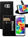 Case For Samsung Galaxy Samsung Galaxy Case Card Holder with Stand Flip Full Body Cases Solid Color PU Leather for S7 edge S7 S6 edge S6