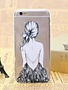 Back Pattern TPU Relief Thin Transparent Diamond Paste Back Cover Case for iPhone 6/6S