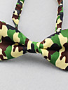 Men\'s Polyester Bow Tie,Vintage Party Work Casual Print All Seasons Green Blue