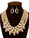 Femme Set de Bijoux Boucles d\'oreille goutte Colliers plastrons Luxe Retro Soiree Travail Decontracte Bijoux Fantaisie Europeen Mode