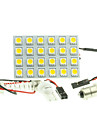 SO.K G4 / BA9S / Festoon Carro Lampadas LED de Alto Rendimento / SMD 5050 240-280lm Iluminacao interior For Universal