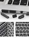 ENKAY Ultra-thin Protective Keyboard Film and Anti-dust Plugs Universal for MacBook Pro with Retina Display / Air