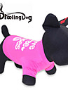 Gato Cachorro Camiseta Roupas para Caes Carta e Numero Rosa Ocasioes Especiais Para animais de estimacao