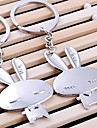 Cute Rabbit Wedding Key Ring Keychain for Lover Valentine\'s Day(One Pair)