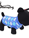 Cat Dog Shirt / T-Shirt Dog Clothes Breathable Plaid/Check Red Blue Costume For Pets