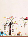 Животные Мультипликация Наклейки Простые наклейки Декоративные наклейки на стены,Винил материал Съемная Украшение дома Наклейка на стену