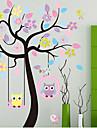 Colorful Tree & Owls PVC Wall Sticker