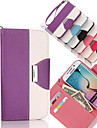 Color Matching Painting PU Leather Case with Stand and Slot Card for Samsung Galaxy S6 Edge