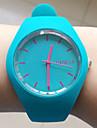 여성용 패션 시계 손목 시계 드레스 시계 캐쥬얼 시계 석영 실리콘 밴드 블랙 화이트 블루 레드 오렌지 브라운 그린 핑크 퍼플 노란색 로즈