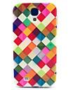 용 삼성 갤럭시 케이스 패턴 케이스 뒷면 커버 케이스 기하학 패턴 TPU Samsung S4 Mini