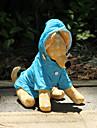 Dog Rain Coat Dog Clothes Solid Colored Orange Rose Blue Nylon Costume For Pets Waterproof