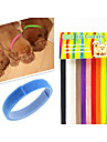 Dog Collar Pet Puppy ID Collars Adjustable/Retractable Velcro Rainbow 12 Colors Multicolor Nylon