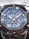 ASJ Ανδρικά Ρολόι Καρπού Ιαπωνικά Ανοξείδωτο Ατσάλι Ασημί 30 m Ανθεκτικό στο Νερό Συναγερμός Ημερολόγιο Αναλογικό-Ψηφιακό Πολυτέλεια Μοντέρνα - Λευκό Μπλε Δύο χρόνια Διάρκεια Ζωής Μπαταρίας / LCD