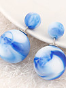 European Style Fashion Ornate Pattern Candy Color Beads Wild Double Side Earrings