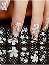 1 Lace Sticker 3D Nail Stickers Flower Fashion Wedding Daily High Quality