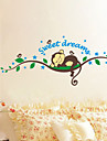애니멀 / 보태니컬 / 카툰 / 정물화 / 풍경 벽 스티커 플레인 월스티커,PVC 120*47.5