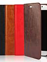 Pour Samsung Galaxy Coque Etuis coque Portefeuille Porte Carte Avec Support Clapet Coque Integrale Coque Couleur Pleine Flexible Vrai Cuir