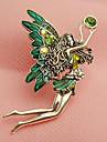 hualuo®retro танцы ангельские крылья бриллиантовая брошь
