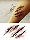 Хэллоуин ужаса страшные татуировки наклейки раны Временные татуировки (1 шт)