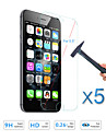 5PCS Screen Protector Tempered Glass Guard Film for Apple iPhone 6S Plus/6 Plus 5.5""