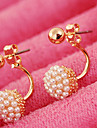 Women\'s Stud Earrings Bridal Fashion Costume Jewelry Pearl Imitation Pearl Alloy Ball Jewelry For Wedding Party Daily