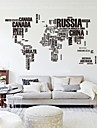 Abstract Words & Quotes Wall Stickers Plane Wall Stickers Decorative Wall Stickers, PVC Home Decoration Wall Decal Wall