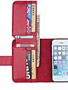 Pour Coque iPhone 5 Portefeuille Porte Carte Avec Support Clapet Coque Coque Integrale Coque Couleur Pleine Dur Cuir PU pouriPhone