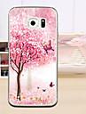 Para Samsung Galaxy Capinhas Case Tampa Com Relevo Capa Traseira Capinha Árvore PUT para Samsung S6