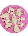 케이크 컵 케이크 장식을위한 3D 곰의 발 아기 장난감 실리콘 퐁당 금형 설탕 공예 도구 초콜릿 몰드
