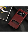 For Sony Case / Xperia Z3 with Stand / with Windows / Flip Case Full Body Case Solid Color Hard PU Leather for SonySony Xperia Z3 / Sony