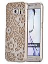 caso difícil magia spider®yellow pequeno padrão de relevo flores ultra-fino para transpareny Samsung Galaxy S6