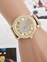 Damen Armbanduhr Quartz Imitation Diamant Legierung Band Analog Glanz Gold - Golden