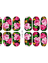 Autocolantes de Unhas 3D - Desenho Animado/Flor/Adoravel - para Dedo - de Outro 14.2*7.5*0.1