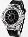 Geneva Жен. Повседневные часы Модные часы Японский Кварцевый 30 m Светящийся силиконовый Группа Аналоговый Кулоны Черный / Белый - Белый Черный Два года Срок службы батареи