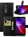 Case For ASUS Asus Case Wallet Card Holder with Stand Flip Full Body Solid Color Hard PU Leather for