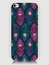 motif plume de téléphone de couverture de cas pour iphone5c