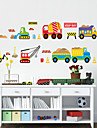 Shapes Cartoon Transportation Wall Stickers Plane Wall Stickers Decorative Wall Stickers, PVC Home Decoration Wall Decal Wall