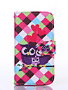 Love Owl Pattern PU Leather Full Body Case with Stand for Multiple Samsung Galaxy S4/S5/S6/S6Edge
