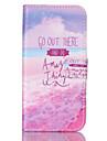 Для Кейс для  Samsung Galaxy Бумажник для карт / Кошелек / со стендом / Флип Кейс для Чехол Кейс для Слова / выражения Искусственная кожа