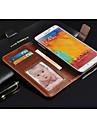 Para Samsung Galaxy Note Case Tampa Carteira Porta-Cartao Com Suporte Flip Corpo Inteiro Capinha Cor Solida Couro Ecologico para Samsung