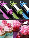 conjunto de 4 bolo caneta ferramenta artesanato acucar decoracao definir ponta do bico de confeitar com raspador (cor aleatoria)