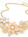 Women's Choker Necklace Statement Necklace  -  Fashion European Beige Pink Necklace For Party Daily Casual