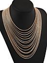 MPL Fashion retro exaggerated multi Tassel Necklace
