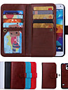 Case For Samsung Galaxy Samsung Galaxy Case Card Holder Wallet Flip Full Body Cases Solid Color PU Leather for S6 edge S6 S5 S4
