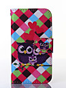Love Owl Pattern PU Leather Full Body Case with Stand for Samsung Galaxy Trend Lite S7390/S7392