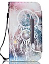 For Samsung Galaxy Case Card Holder / Wallet / with Stand / Flip Case Full Body Case Dream Catcher PU Leather Samsung S5 / S4 Mini / S4