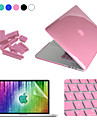 "Enkay Case for Macbook Pro 13"" Solid Color Plastic Material 4 in 1 Crystal Hard Protective Case + Screen Protector + Keyboard Film + Anti-dust Plugs"