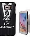 Para Samsung Galaxy Capinhas Case Tampa Estampada Capa Traseira Capinha Palavra / Frase PC para Samsung S6